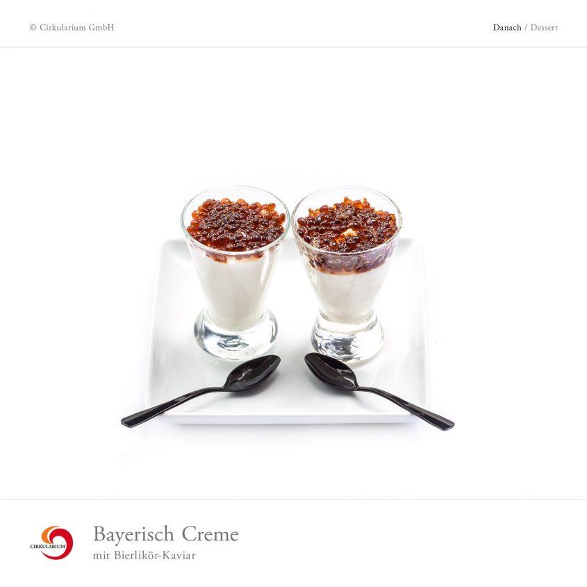 Bayerisch Creme mit Bierlikör-Kaviar