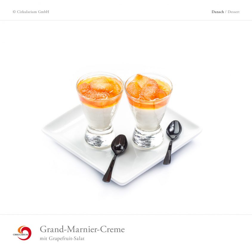 Grand-Marnier-Creme mit Grapefruit-Salat