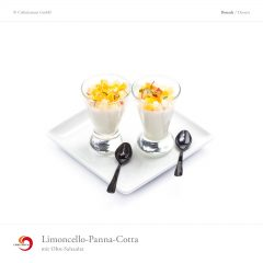 Limoncello-Panna-Cotta mit Obst-Salsa