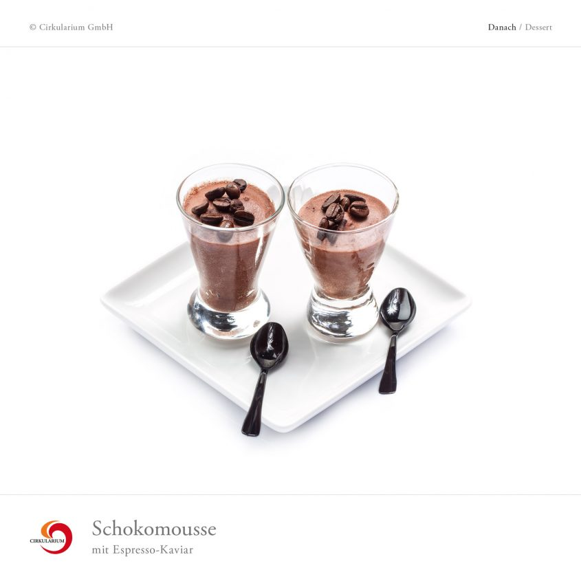 Schokomousse mit Espresso-Kaviar