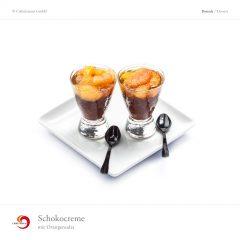 Schokocreme mit Orangensalat