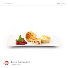 Tonka-Käsekuchen mit Erdbeer-Herz