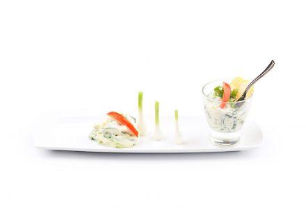 Apfel-Lauch-Salat mit feinem Joghurt-Dressing