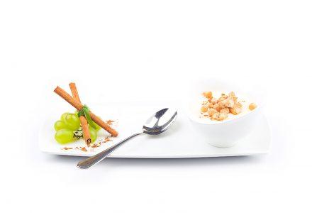 Terlaner Weinsuppe mit Zimtcroutons
