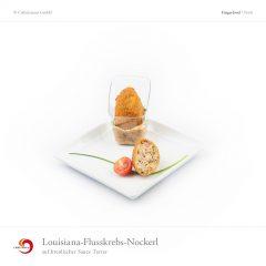 Louisiana-Flusskrebs-Nockerl auf kreolischer Sauce Tartar