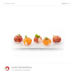 Sushi Reisbällchen in verschiedenen Variationen