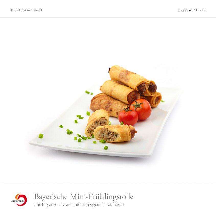 Bayerische Mini-Frühlingsrolle mit Bayerisch Kraut und würzigem Hackfleisch