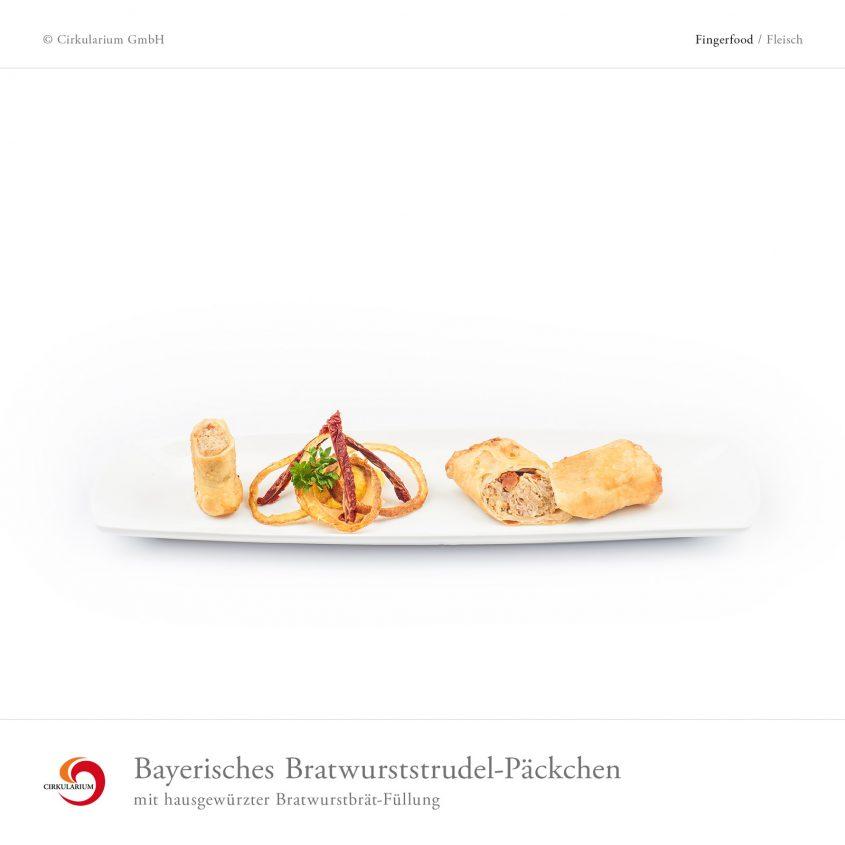 Bayerisches Bratwurststrudel-Päckchen mit hausgewürzter Bratwurstbrät-Füllung