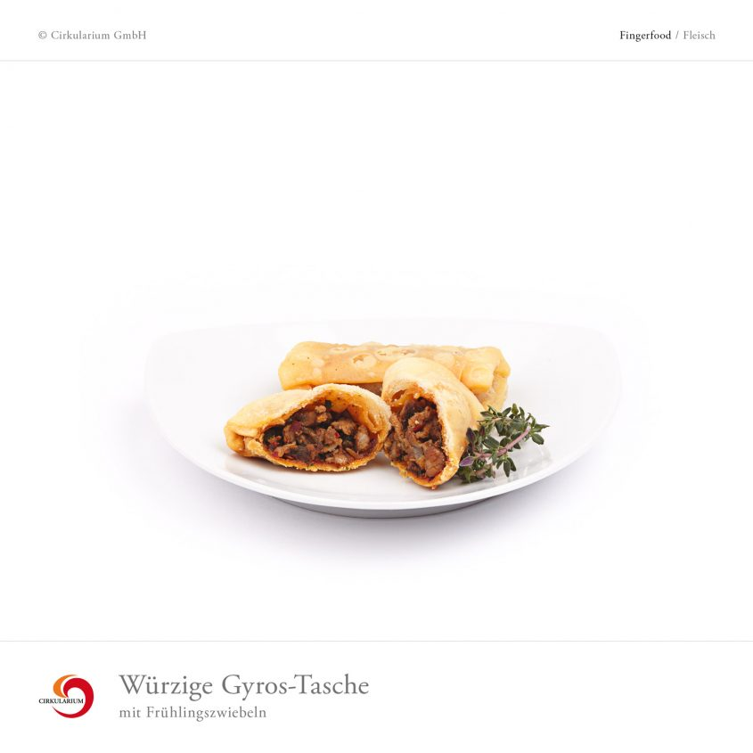 Würzige Gyros-Taschen mit Frühlingszwiebeln