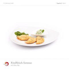 Rindfleisch-Samosas mit Minz-Dip