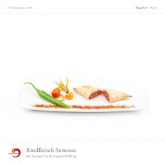 Rindfleisch-Samosas mit feuriger Curry-Ingwer-Füllung