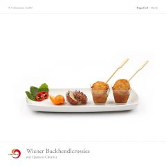 Wiener Backhendlcrossies mit Quitten-Chutney