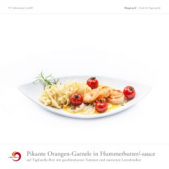 Pikante Orangen-Garnele in Hummerbutter/-sauce